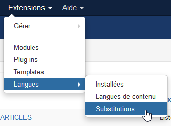 Fonction de substitution de valeur de traduction